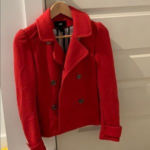 h&m red jacket